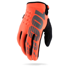 100% gloves Brisker Fluo Orange/Black