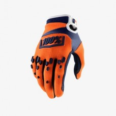 100% gloves Airmatic Orange/Navy