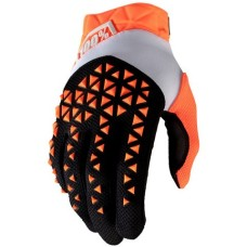 100% gloves Airmatic Black/Orange