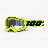 100% google Accuri2 NDURO MTB Fluo Yellow Clear Dual Lens